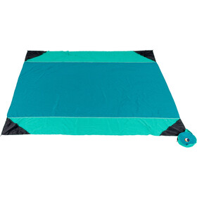 Ticket to the Moon Beach Blanket 213x213cm, emerald/green